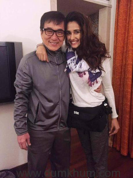 Disha Patani spotted with Jackie Chan