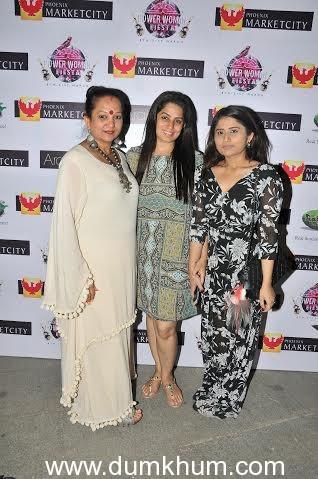 Dorris Godambe with Manju Bhende and Aishwarya Bhende