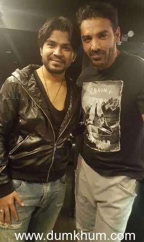 John Abraham and Ankit Tiwari promoting Rocky Handsome-