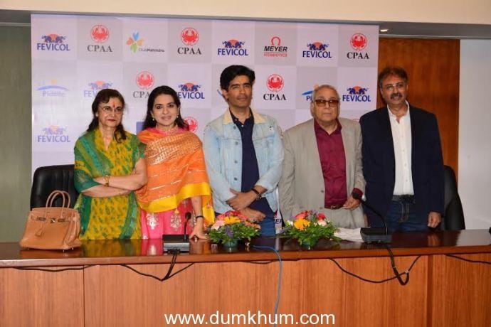 L-R Ms.Rekha Sapru, Shaina NC, Manish Malhotra, Mr.Y.K Sapru-Founder Chanirman CPAA, MR.Rakesh Malhotra, Hon.Sec.NSCI.
