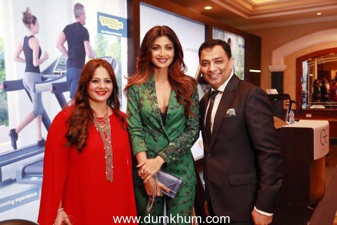 Shipla Shetty with Mr Pankaj Arora,MD Geo Spa at Geoa Spa Asia Spa Award 2015