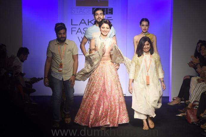 6. Urvashi Rautela with Designer Pratik & Priyanka at Lakme Fashion Week 2016