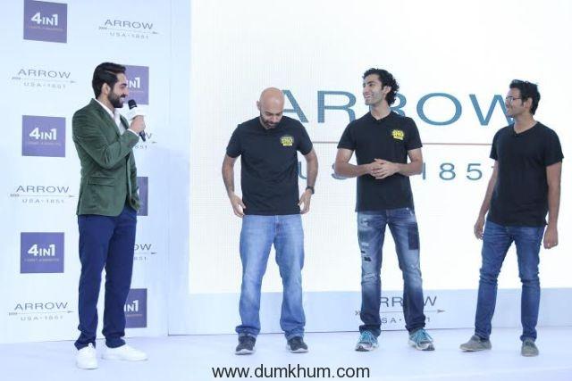 Ayushmann Khurrana with the SnG ... he Arrow 4in1 Shirt Launch-5.