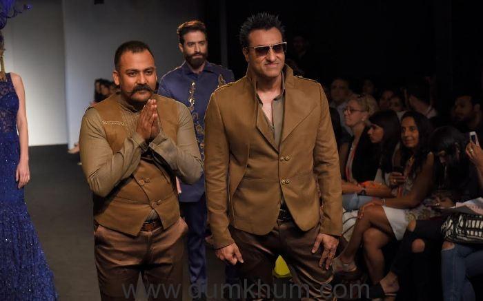 Designer Lalit Dalmia with Mohd. Morani _