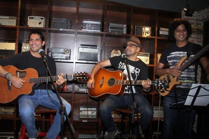 Farhan Akhtar and band.