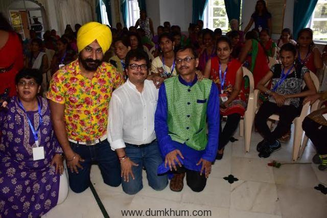 Guru Charan Sigh (Sodhi), Asit Kumarr Modi, Shyam Pathak (Popatlal), at Dr Samir Mansuri Blind DReams event.