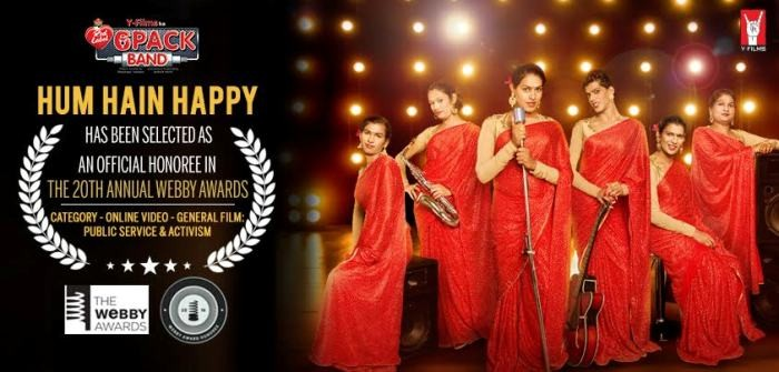 HUM HAIN HAPPY SELECTED AS OFFICIAL HONOREE BY WEBBY AWARDS!