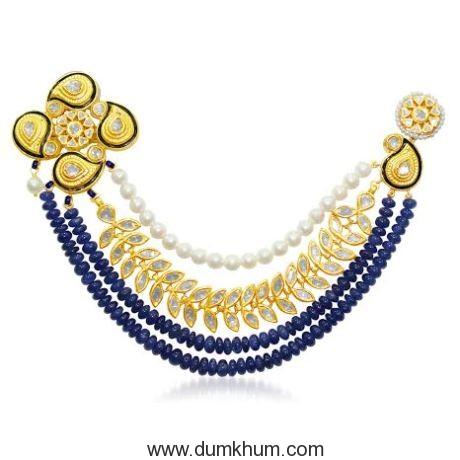 Karan Singh Grover in Jaipur Jewels Brooch for his wedding-