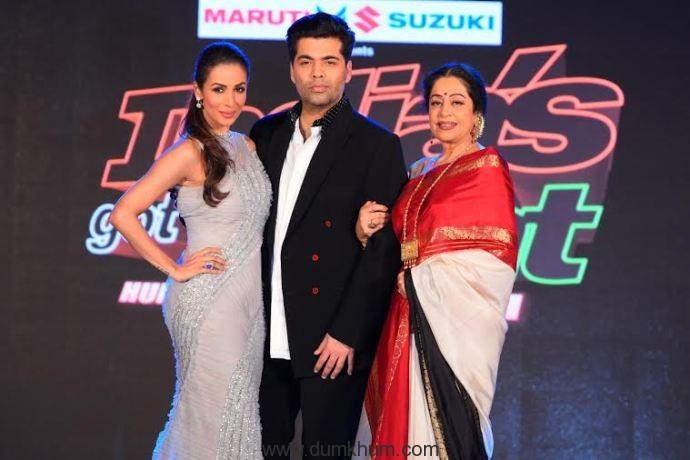 Malaika Arora, Karan Johar & Kirron Kher @ India's Got Talent
