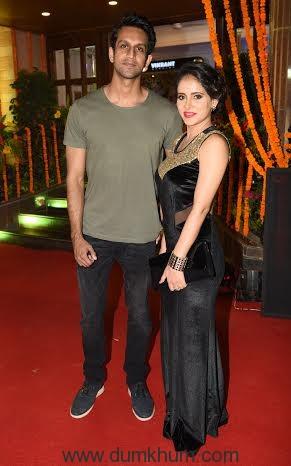 Mohit Madan with Shweta khanduri