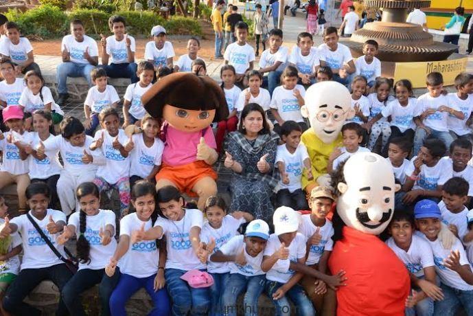 Mp Poonam Mahajan, Nickelodeon Too ... kids for the great initiative