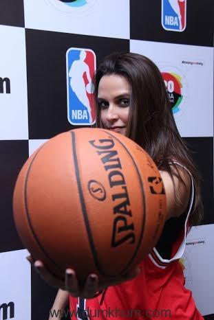 Neha Dhupia at the launch of NBA Digital Destination in Mumbai