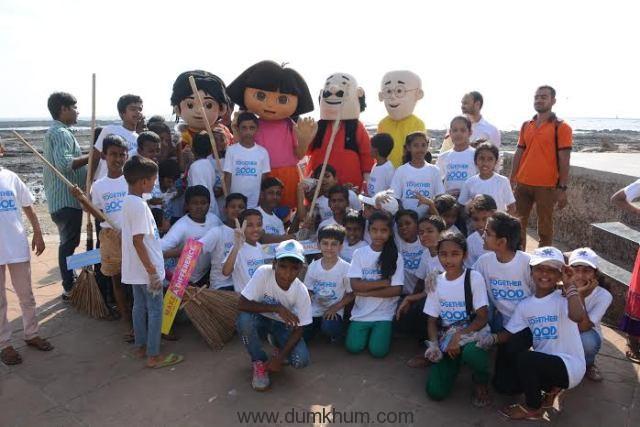 Nickelodeon Toons Motu Patlu clean ... treets of Mumbai with the kids-