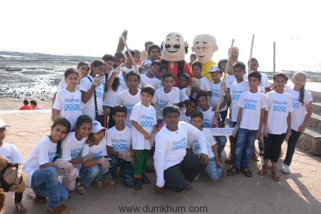 Nickelodeon Toons Motu Patlu clean ... treets of Mumbai with the kids