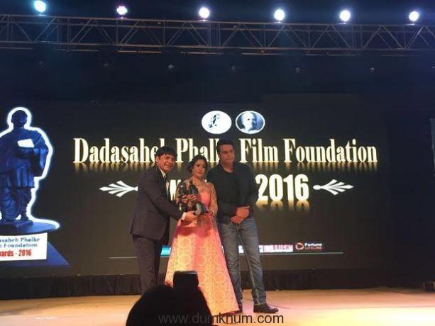 Rajiee M Shinde honoured with Dada Saheb Phalke Film Foundation Award!
