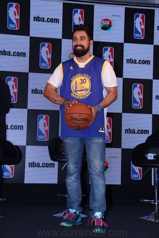 Rannvijay Singha at the launch of NBA Digital Destination in Mumbai.