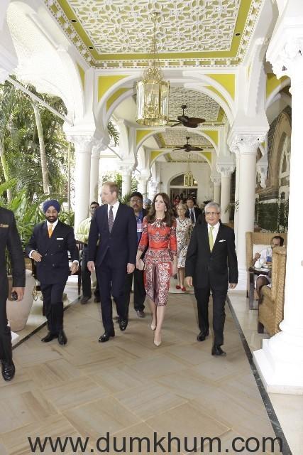 Royal Couple visit at The Taj Mahal Palace, Mumbai