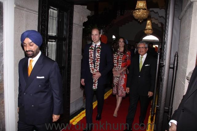Royal Couple wih Mr. Taljinder Singh_Area Director Mumbai and General Manager, The Taj Mahal Palace Mumbai