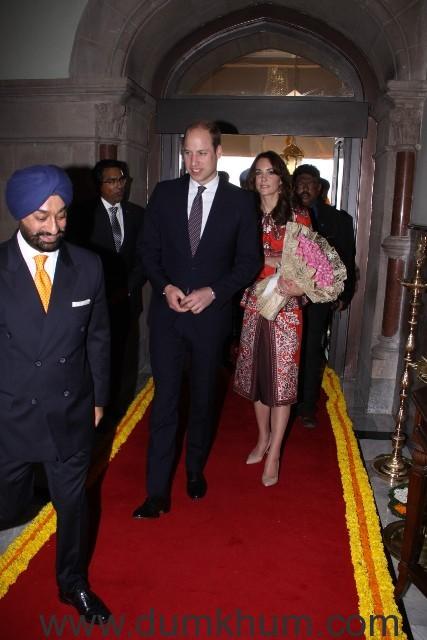 Royal Couple with Mr. Taljinder Singh, Area Director Mumbai and General Manager, The Taj Mahal Palace Mumbai_0
