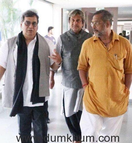 Subhash Ghai welcomed Nana Patekar and Mahesh Manjrekar at Whistling Wood international