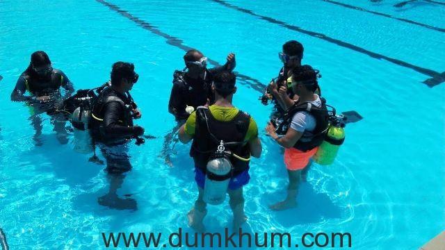 Varun Dhawan Underwater training for Dishoom