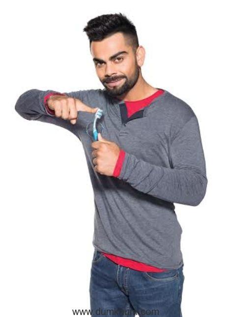 Virat kolhi - New Ambassador for Colgate Superflexi Toothbrush