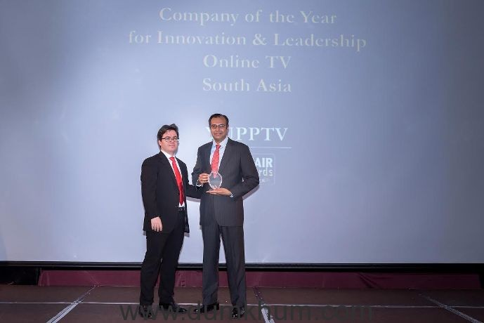 YuppTV named 'Company of the Year for Innovation and Leadership'at the IAIR Awards 2016!