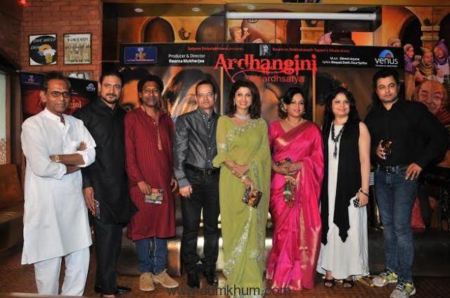 3. Varsha Usgaonkar, Subrat Dutta, Champak Jain, Sreelekha Mitra , Reema Mukherjee and Subodh Bhave during the Music Launch of - ARDHANGINI -