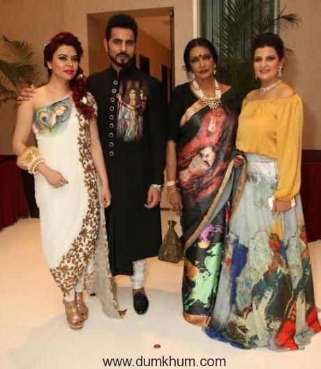 Hosts of the Evening Designer Reshma Grover, Designer Bharat Grover, Artist Anjanna Kuthiala and Abstract Artist Krupa Shah.