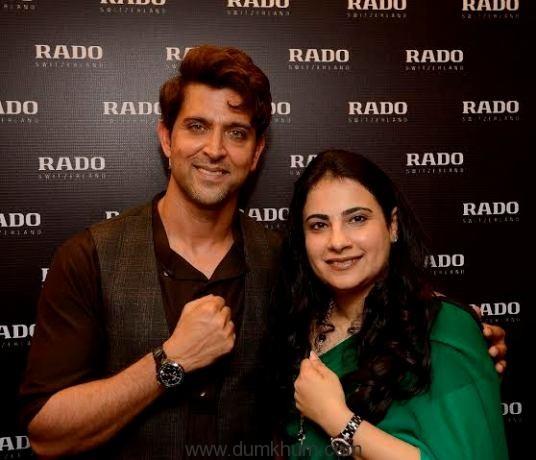 Brand ambassador Hrithik Roshan unveils tasty new timepieces