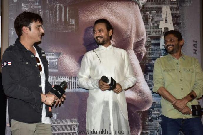 Irrfan Khan presents Madaari trailer along with his son!