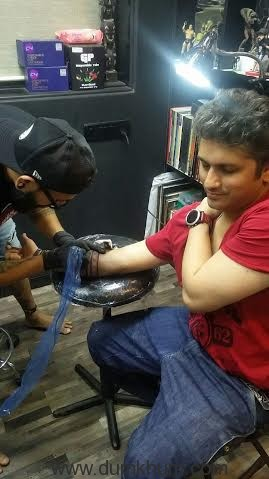 Mohit Suri gets his daughters name inked