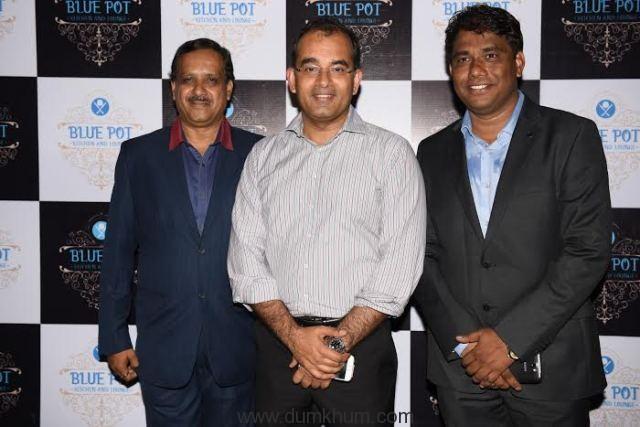 Mukesh Gupta with Shravan Shroff and Bhaskar Chavan