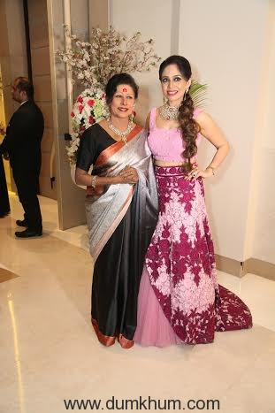 Padmashri Shovana Narayan and Designer Deepa Sondhi.