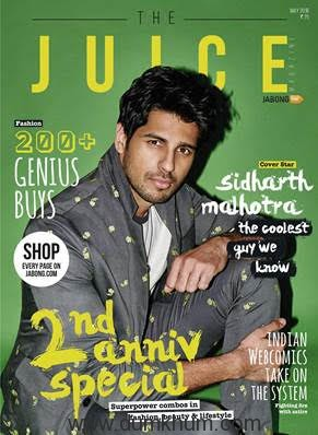 Sidharth Malhotra turns up the heat on the May cover of The Juice Magazine
