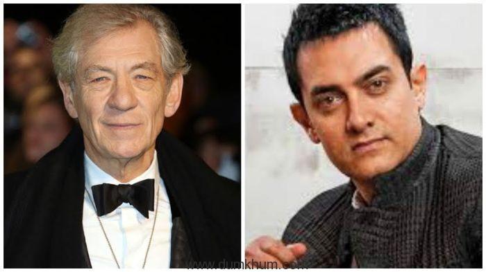 Sir Mckellen and Aamir khan 2