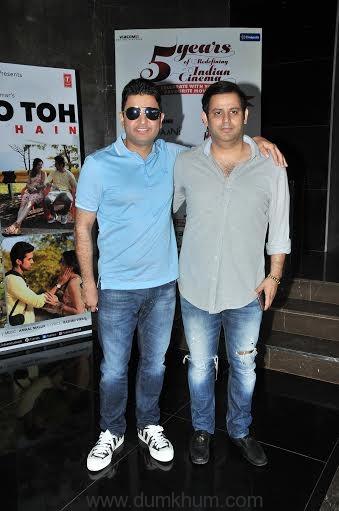 Bhushan Kumar with Ajay Kapoor