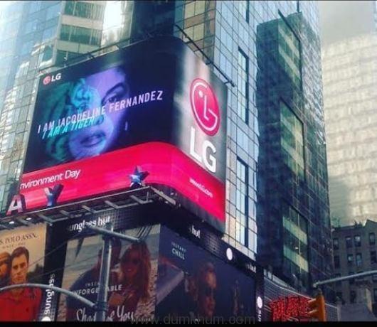 Jacqueline on Times Square!