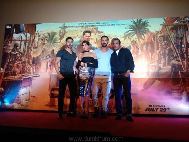 John Abraham, Varun Dhawan and Jacqueline Fernandez. Akshay Khanna