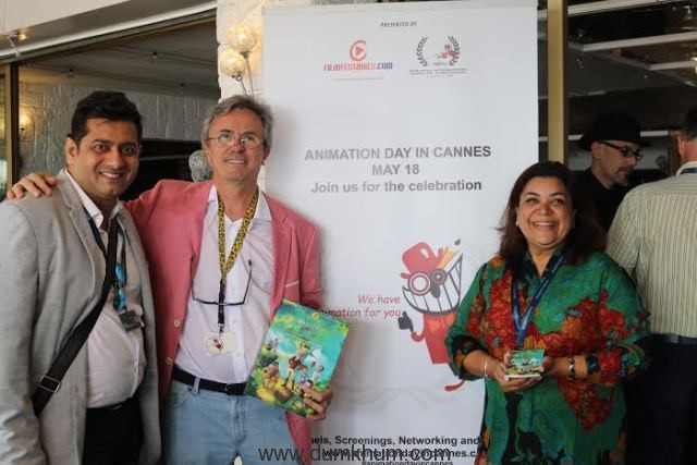 Mask-Man Producer Yusuf Shaikh at The Animation Day at Cannes