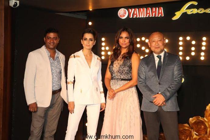 Mr. Roy Kurian, VP, Sales & Marketing, Yamaha Motor India, Actress Kanga.