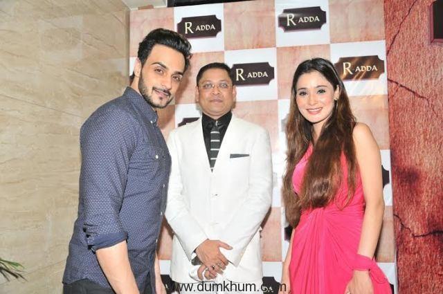 Nihit Srivastava with Angad Hasija and Sara Khan