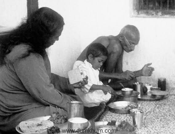 PY with Mahatma Gandhi 1935.