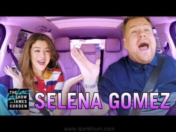 Selena's Carpool Karaoke with James Corden breaks the internet!