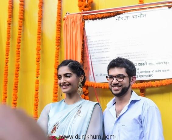 Sonam Kapoor inaugurates the Neerja Bhanot Chowk !