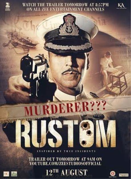 Third poster of  Rustom