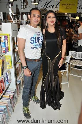 Gurpreet Kaur Chadha & Shahrukh Askari at launch and reading session of the book