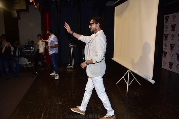 Irrfan Khan promotes Madaari at Mithibai College-