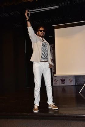 Irrfan Khan promotes Madaari at Mithibai College.1