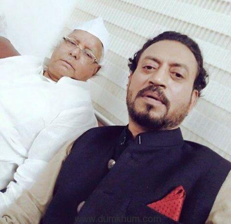 Irrfan Khan with Lalu Prasad Yadav.